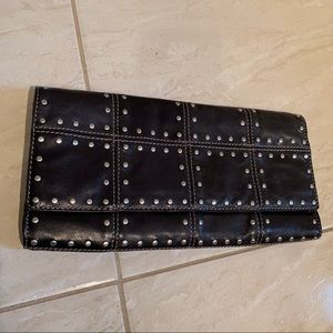 🤍 RARE Michael Kors leather & studs cluch 🤍